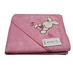 Детское полотенце-уголок La Villa TAVSAN DESEN хлопковая махра розовый 90х90, фото, фотография