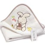 Детское полотенце-уголок La Villa TAVSAN DESEN хлопковая махра кремово-бежевый 90х90, фото, фотография