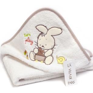 Детское полотенце-уголок La Villa TAVSAN DESEN хлопковая махра кремово-бежевый 90х90