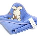 Детское полотенце-уголок La Villa TAVSAN DESEN хлопковая махра голубой 90х90, фото, фотография