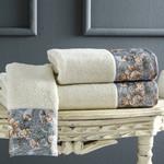 Подарочный набор полотенец-салфеток 30х50(3) Tivolyo Home ANIKA хлопковая махра кремовый, фото, фотография