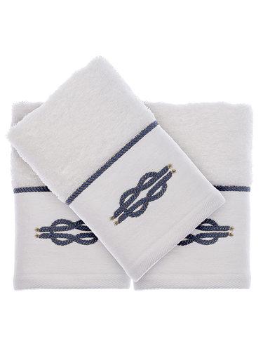 Подарочный набор полотенец-салфеток 30х50(3) Tivolyo Home ANCHOR хлопковая махра белый, фото, фотография