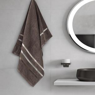 Полотенце для ванной Karna CLASSIC хлопковая махра коричневый 50х80