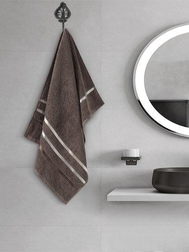 Полотенце для ванной Karna CLASSIC хлопковая махра коричневый 50х80, фото, фотография