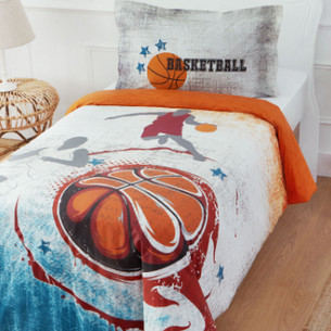 Комплект подросткового постельного белья Ozdilek BASKETBALL TURUNCU хлопковый ранфорс 1,5 спальный
