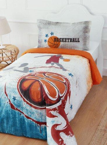 Комплект подросткового постельного белья Ozdilek BASKETBALL TURUNCU хлопковый ранфорс 1,5 спальный, фото, фотография