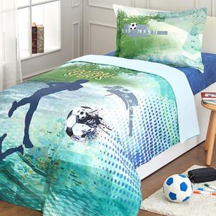 Комплект подросткового постельного белья Ozdilek FOOTBALL TEAM хлопковый ранфорс 1,5 спальный