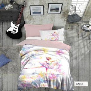 Комплект подросткового постельного белья EFOR GENC BALET хлопковый ранфорс 1,5 спальный