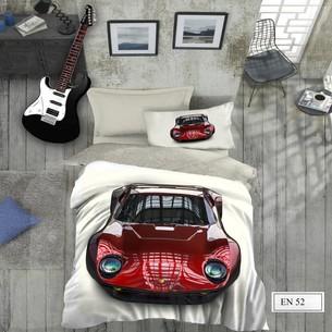Комплект подросткового постельного белья EFOR GENC CAR хлопковый ранфорс 1,5 спальный
