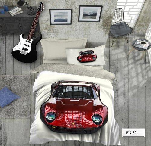Комплект подросткового постельного белья EFOR GENC CAR хлопковый ранфорс 1,5 спальный, фото, фотография