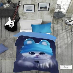Комплект подросткового постельного белья EFOR GENC MAVIS хлопковый ранфорс 1,5 спальный