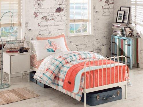 Детское постельное белье Istanbul Home Collection GENC RANFORCE SIENA MERCAN хлопковый ранфорс 1,5 спальный, фото, фотография