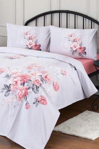 Постельное белье Ozdilek RANFORCE ROSE QUART PEMBE хлопковый ранфорс 1,5 спальный, фото, фотография