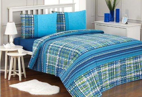 Постельное белье Ozdilek RANFORCE TWEED TURQUAZ хлопковый ранфорс 1,5 спальный, фото, фотография