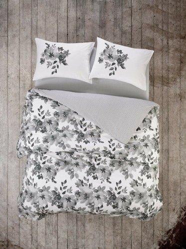 Постельное белье Cotton Box Mode Line VOLANTE GRI хлопковый ранфорс евро, фото, фотография