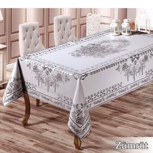 Скатерть прямоугольная Efor ZUMRUT жаккард серый 160х300
