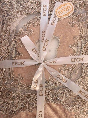Скатерть прямоугольная Efor YILDIZ жаккард кофейный 160х350, фото, фотография