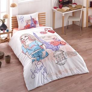 Комплект подросткового постельного белья Kristal Home FASHION хлопковый ранфорс 1,5 спальный