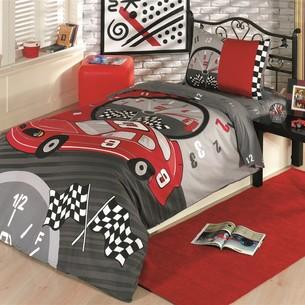 Комплект подросткового постельного белья Kristal Home YARISCI хлопковый ранфорс 1,5 спальный