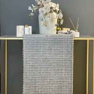 Набор ковриков для ванной Tivolyo home BUBBLES серый 50х60, 60х100