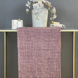 Набор ковриков для ванной Tivolyo home BUBBLES фиолетовый 50х60, 60х100