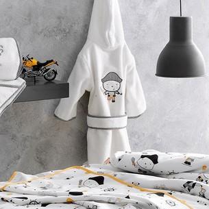 Халат детский для мальчика Tivolyo home PIRATES хлопковая махра 1-2 года
