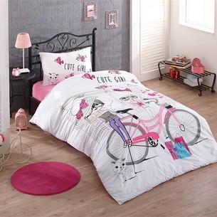 Комплект подросткового постельного белья Kristal Home CUTE GIRLS хлопковый ранфорс 1,5 спальный