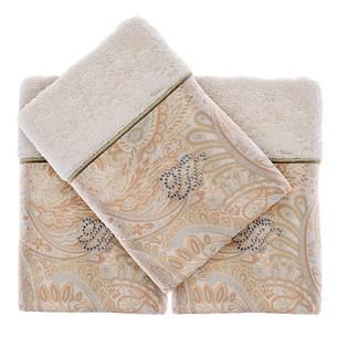 Подарочный набор полотенец-салфеток 30х50(3) Tivolyo Home ETTO хлопковая махра экрю