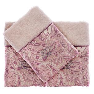 Подарочный набор полотенец-салфеток 30х50(3) Tivolyo Home ETTO хлопковая махра бежевый