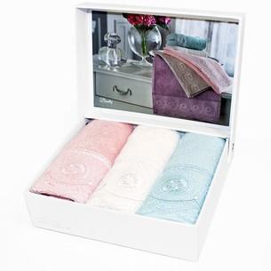 Подарочный набор полотенец-салфеток 30х50(3) Tivolyo Home BUTIK хлопковая махра