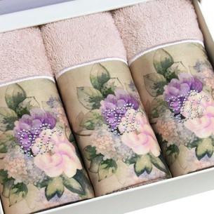 Подарочный набор полотенец-салфеток 30х50(3) Tivolyo Home BELISSA хлопковая махра