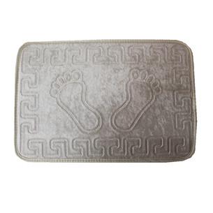 Коврик Dorean велюр жемчужно-серый 40х60