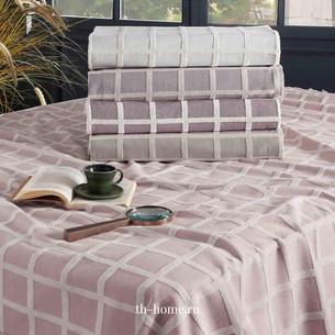 Махровая простынь-покрывало для укрывания Tivolyo Home OSCAR TWİST хлопок розовый 220х240