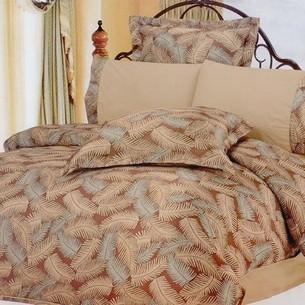 Постельное белье Le Vele FOREST сатин, жатый шёлк бежевый евро
