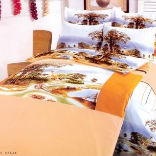Постельное белье Le Vele CHILDHOOD DREAM хлопковый сатин делюкс оранжевый семейный
