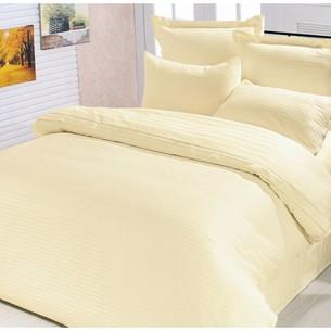 Постельное белье Le Vele SYMPHONY хлопковый сатин-жаккард делюкс кремовый 1,5 спальный