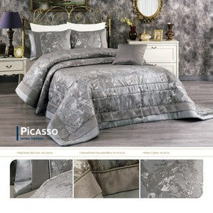 Покрывало Grazie Home PICASSO жаккард серый 260х270