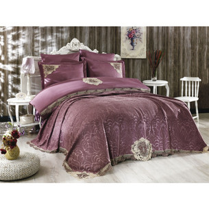Покрывало Grazie Home CARINA жаккард фиолетовый 260х270
