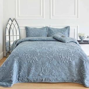 Покрывало Soft Cotton LARINA жаккард синий 260х270