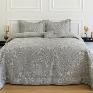 Покрывало Soft Cotton LARINA жаккард серый 260х270