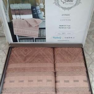 Подарочный набор полотенец для ванной 50х90, 70х140 Sikel ARMONI хлопковая махра