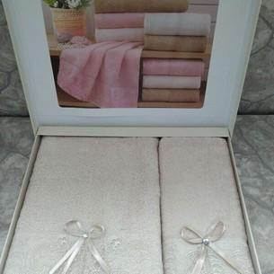 Подарочный набор полотенец для ванной 50х90, 70х140 Sikel ELANOR бамбуково-хлопковая махра