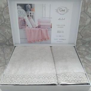 Подарочный набор полотенец для ванной 50х90, 70х140 Sikel PASTEL SIRMA хлопковая махра