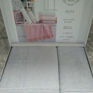 Подарочный набор полотенец для ванной 50х90, 70х140 Sikel PASTEL STORE хлопковая махра
