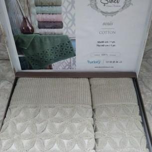 Подарочный набор полотенец для ванной 50х90, 70х140 Sikel VENUS хлопковая махра