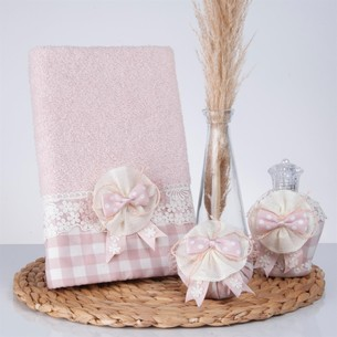 Подарочный набор с полотенцем Nazik Home LUCCA пудра