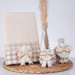 Подарочный набор с полотенцем Nazik Home LUCCA бежевый