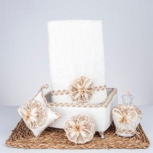 Подарочный набор с полотенцем Nazik Home LARA кремовый
