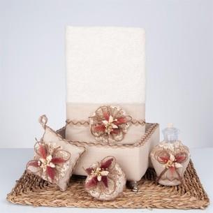 Подарочный набор с полотенцем Nazik Home LARA бежевый