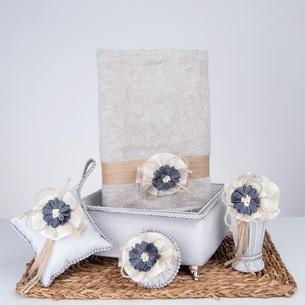 Подарочный набор с полотенцем Nazik Home DREAM серый